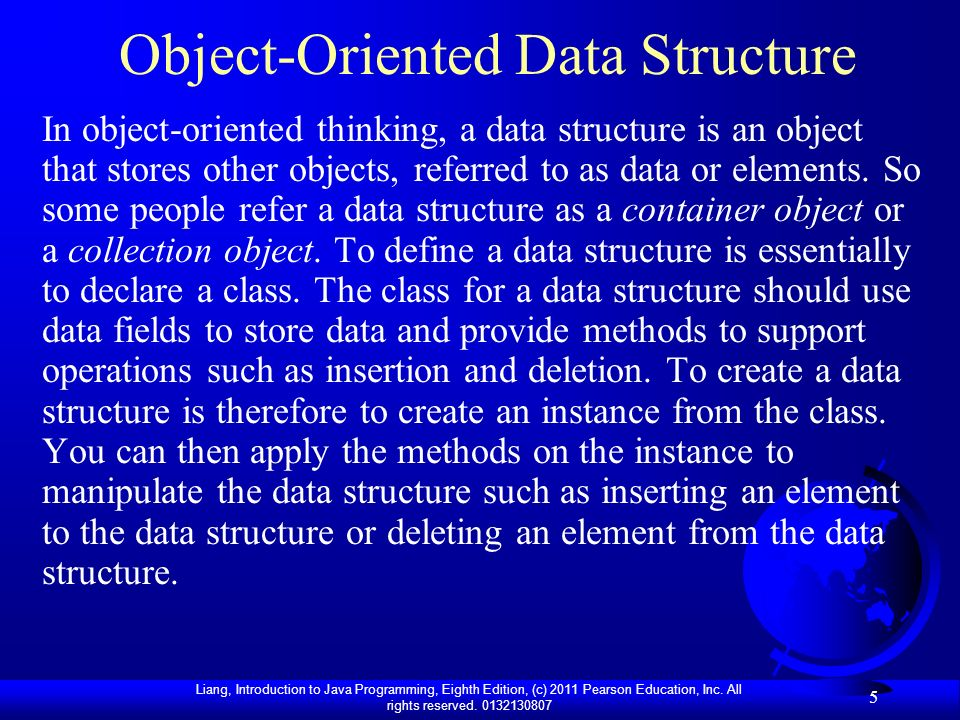 Object-Oriented Data Structure