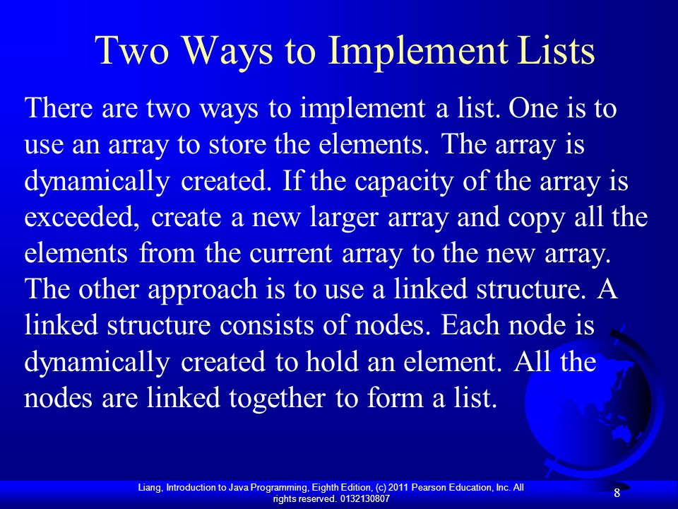 Two Ways to Implement Lists