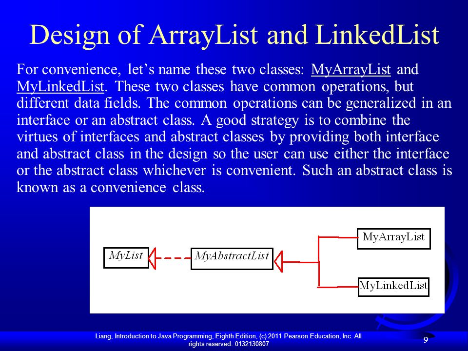Design of ArrayList and LinkedList
