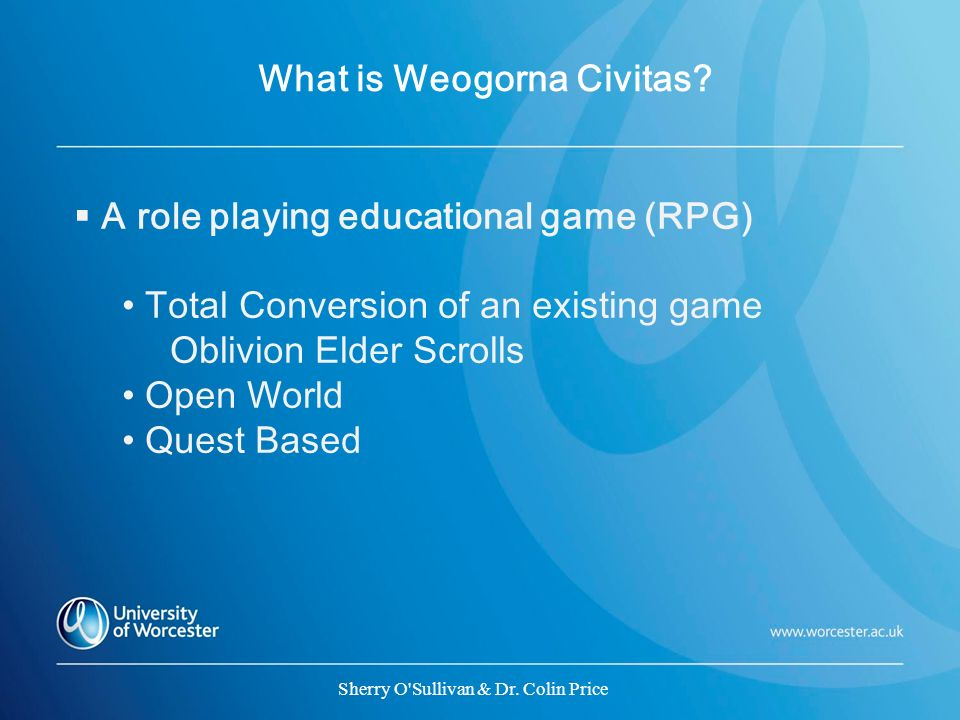 What is Weogorna Civitas