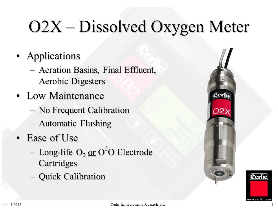 O2X – Dissolved Oxygen Meter