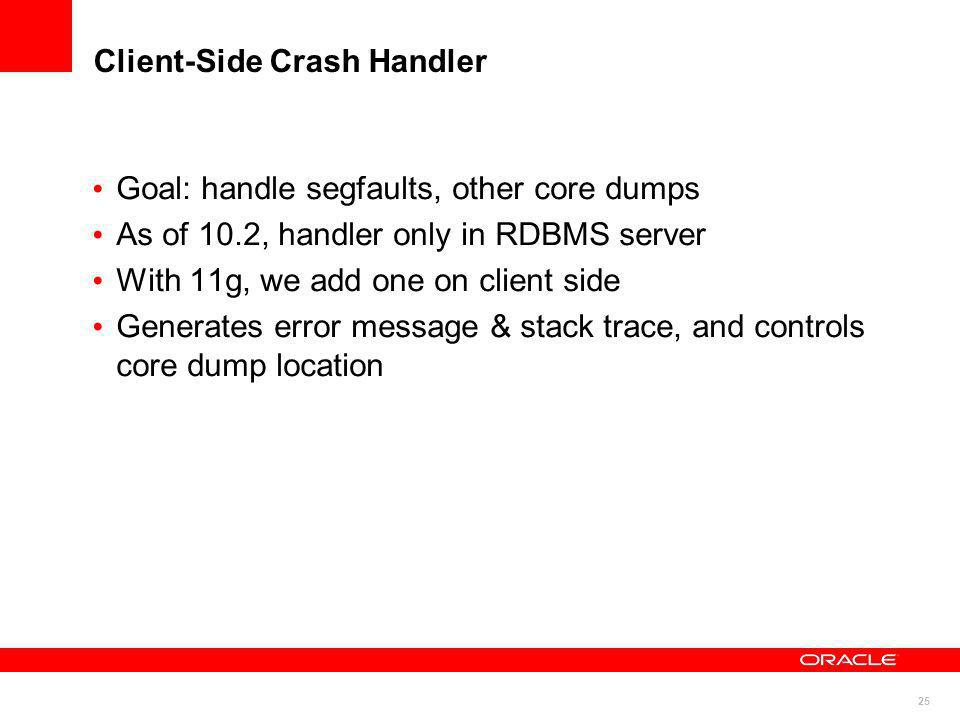 Client-Side Crash Handler