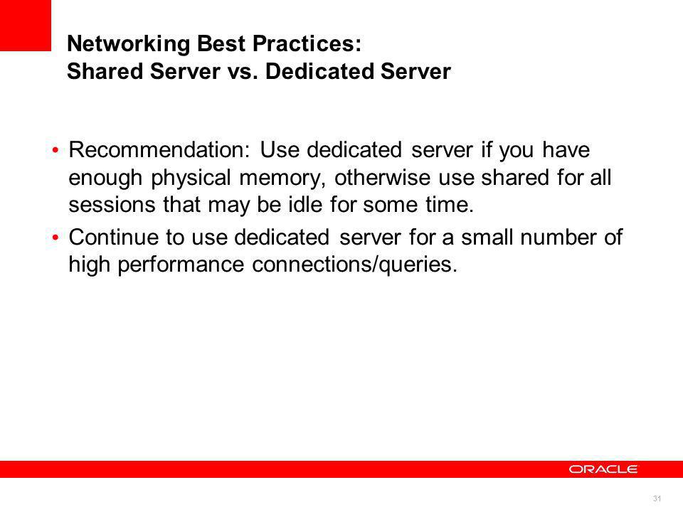 Networking Best Practices: Shared Server vs. Dedicated Server