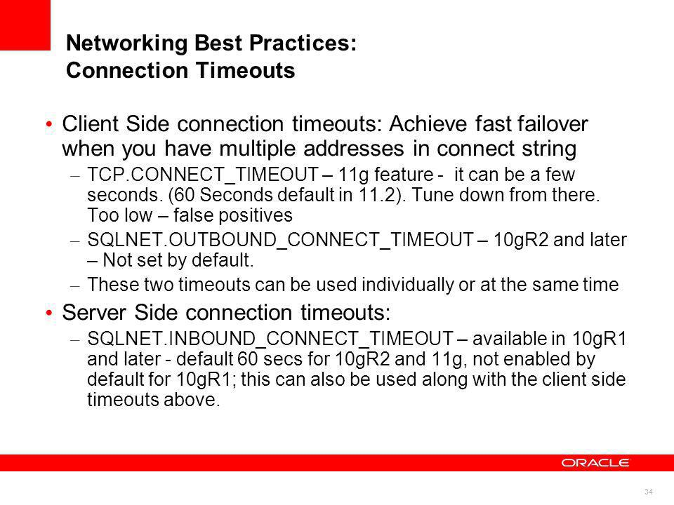 Networking Best Practices: Connection Timeouts