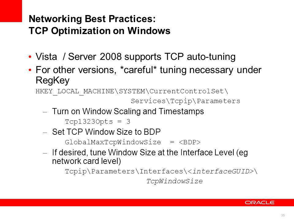 Networking Best Practices: TCP Optimization on Windows