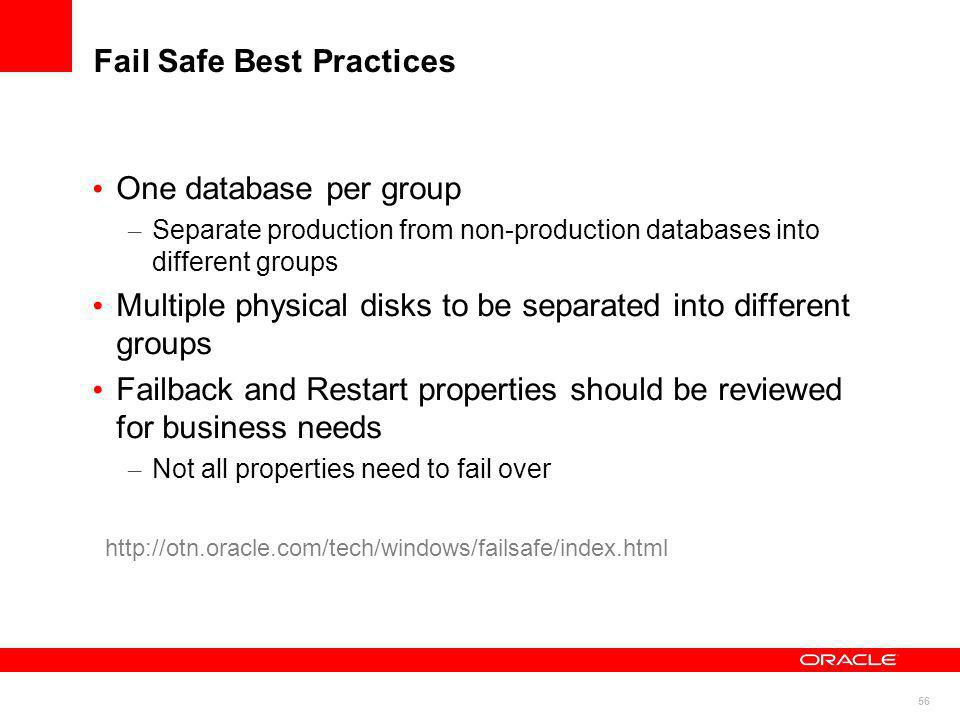 Fail Safe Best Practices