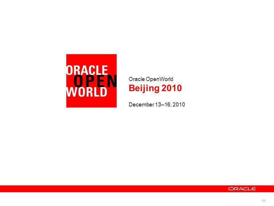 Oracle OpenWorld Beijing 2010