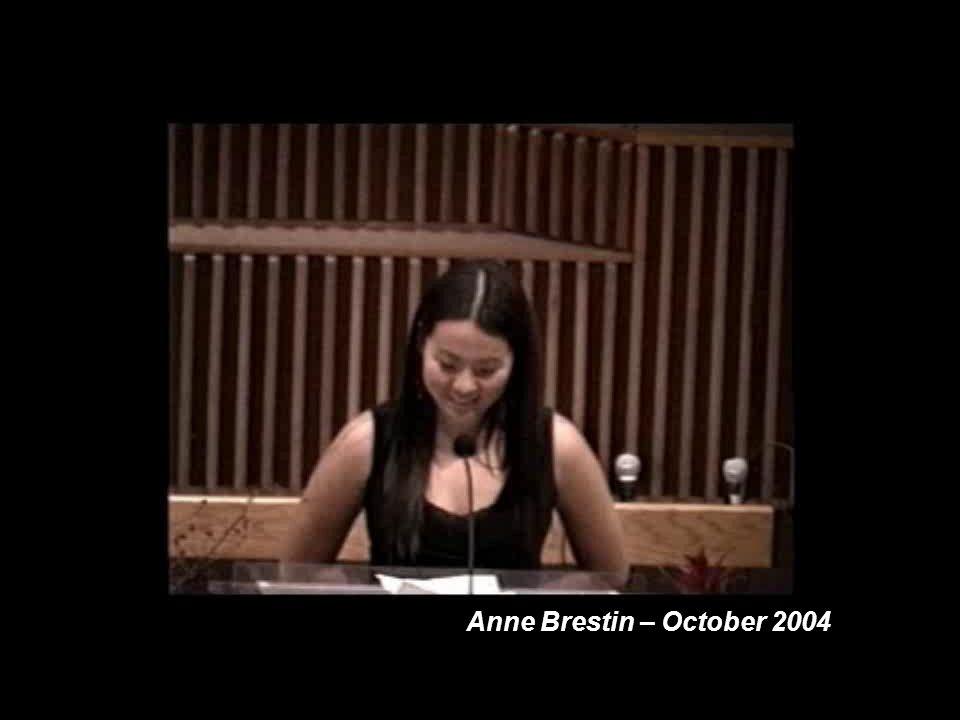 Anne Brestin – October 2004