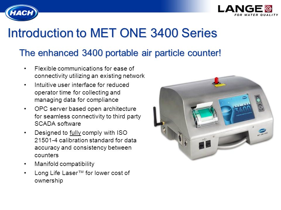Introduction to MET ONE 3400 Series