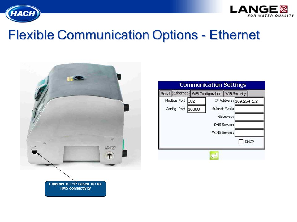 Flexible Communication Options - Ethernet