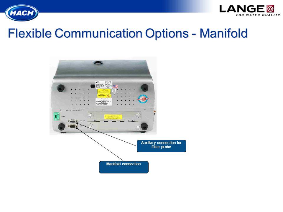 Flexible Communication Options - Manifold