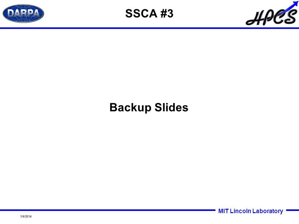 SSCA #3 Backup Slides