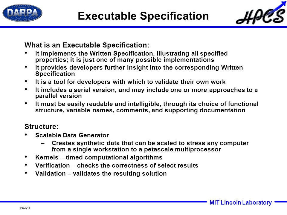 Executable Specification