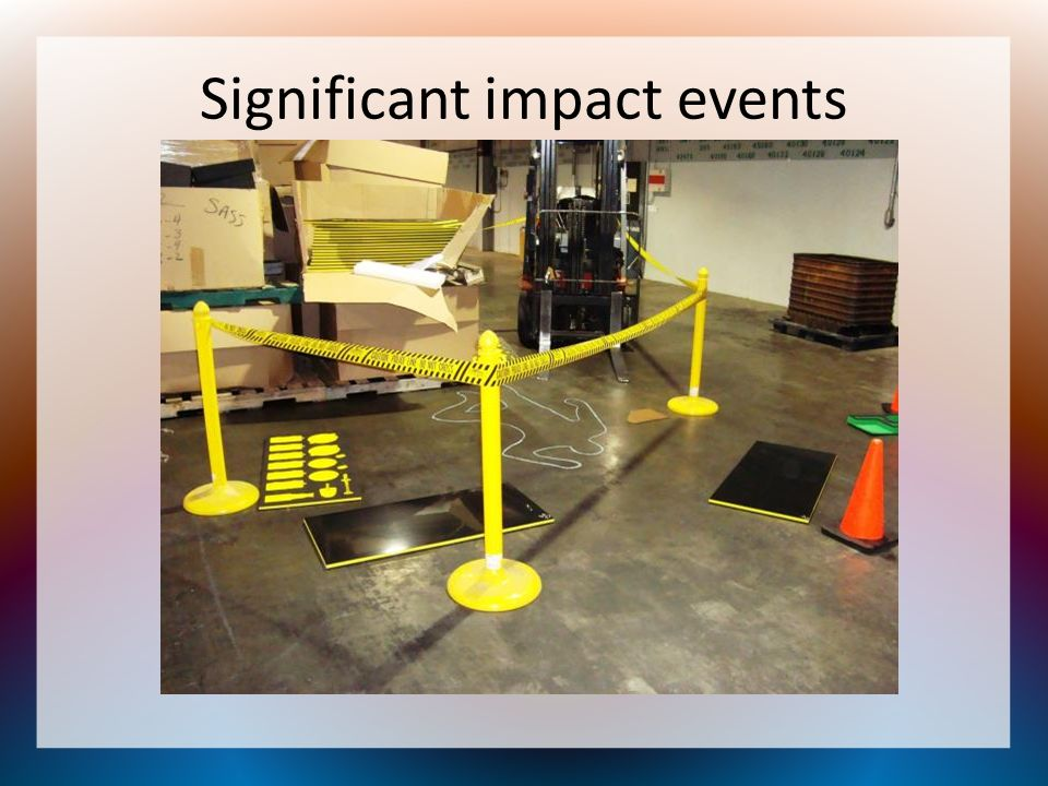 Significant impact events