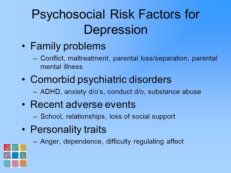Psychosocial Risk Factors for Depression