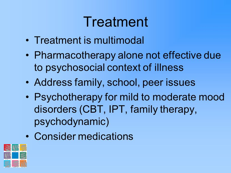 Treatment Treatment is multimodal
