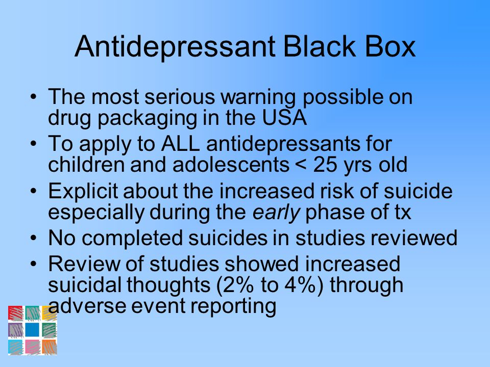 Antidepressant Black Box