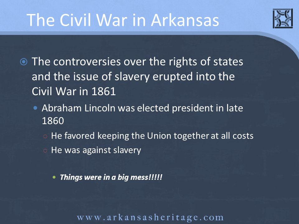 The Civil War in Arkansas