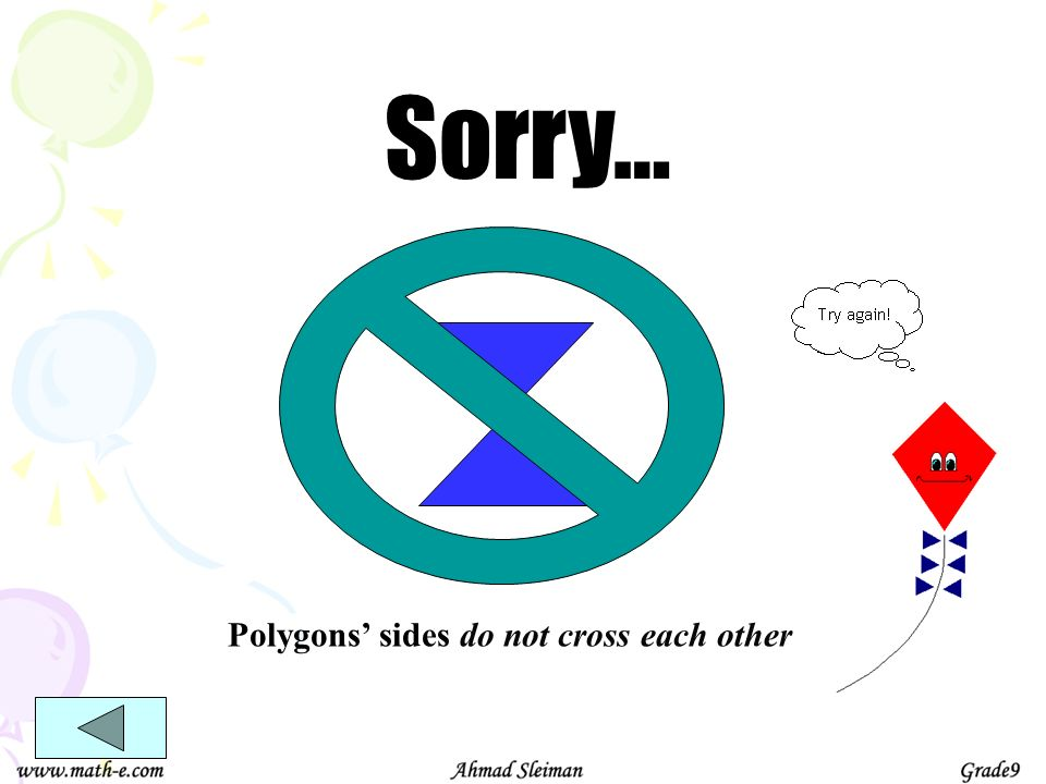 Polygons' sides do not cross each other