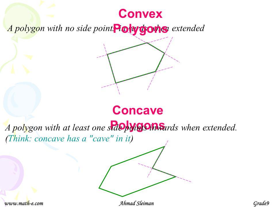 Convex Polygons Concave Polygons
