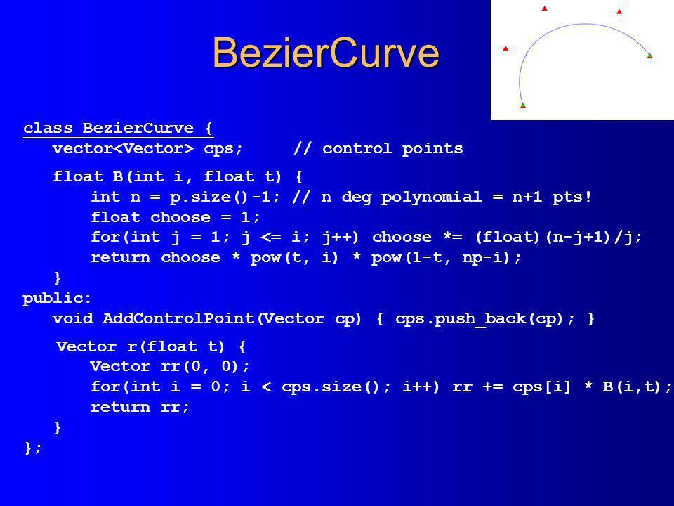 BezierCurve class BezierCurve {