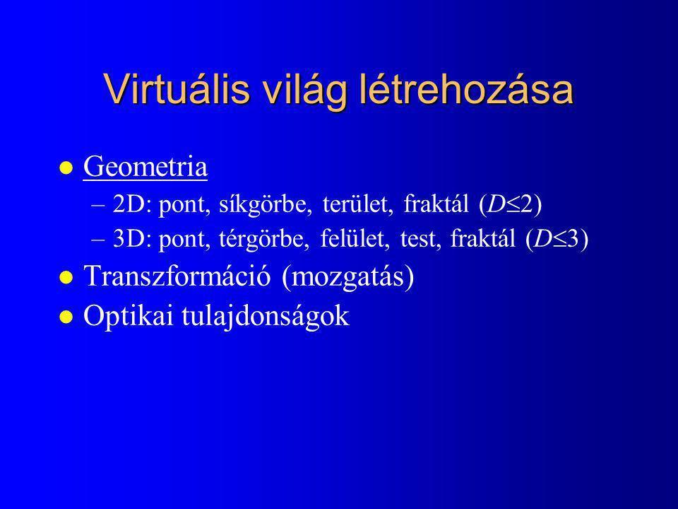 Virtuális világ létrehozása