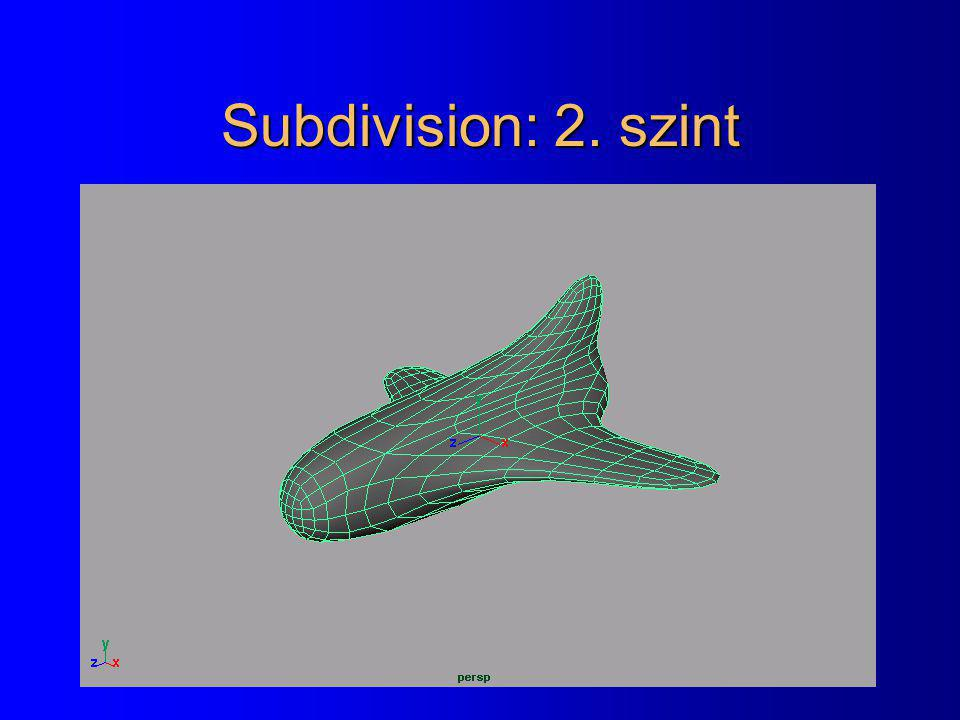 Subdivision: 2. szint