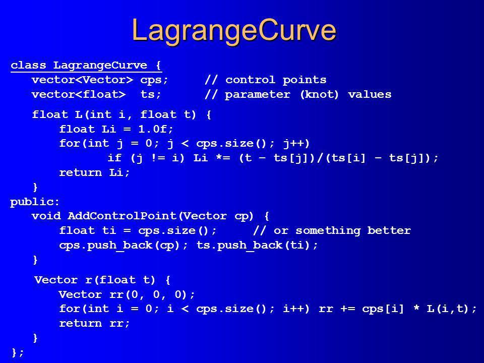 LagrangeCurve class LagrangeCurve {