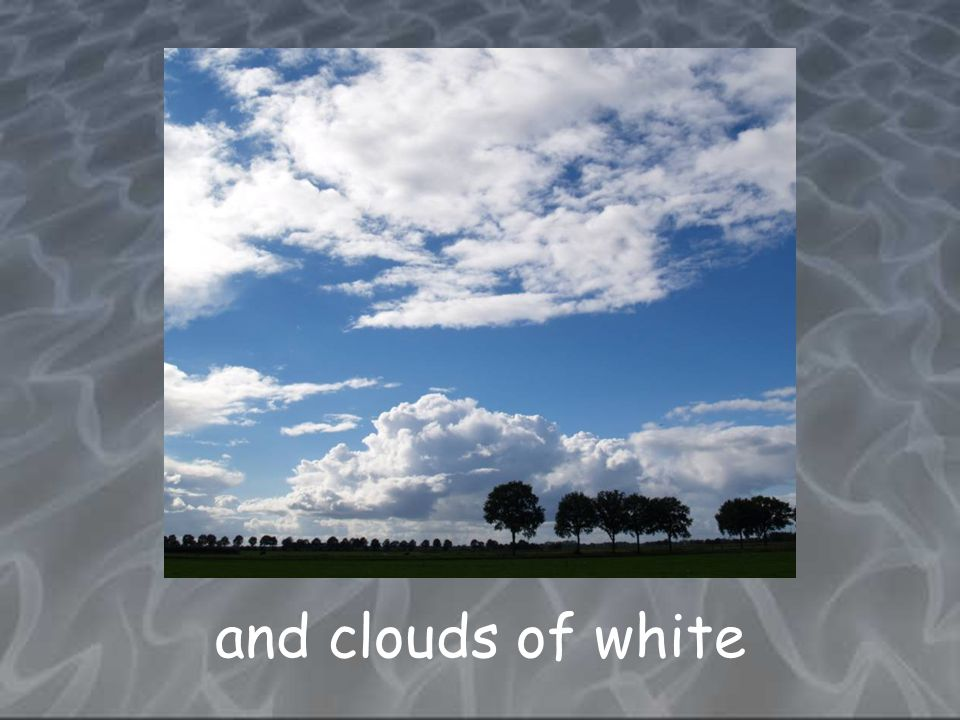 and clouds of white