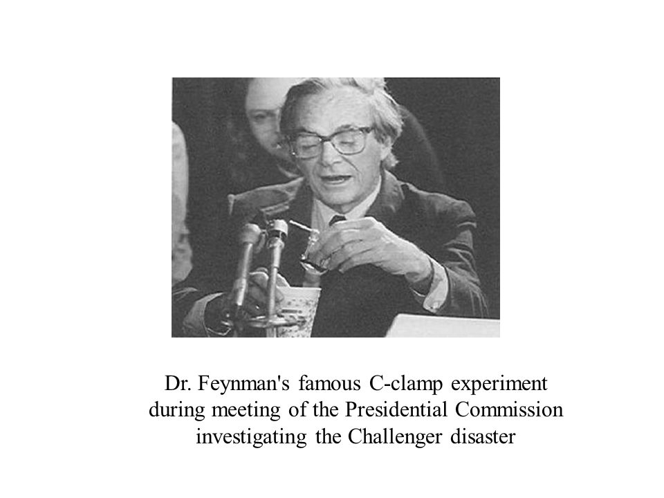 Dr. Feynman s famous C-clamp experiment