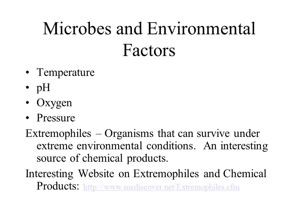 Microbes and Environmental Factors