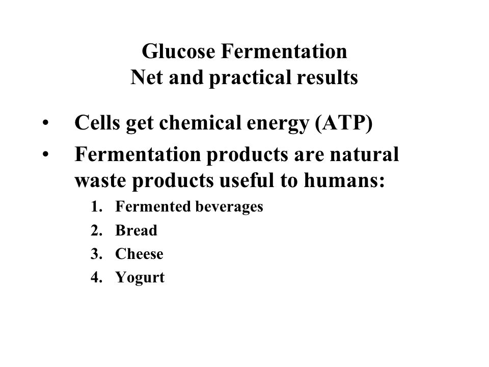 Glucose Fermentation Net and practical results