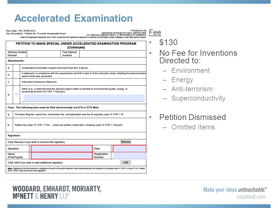 Accelerated Examination