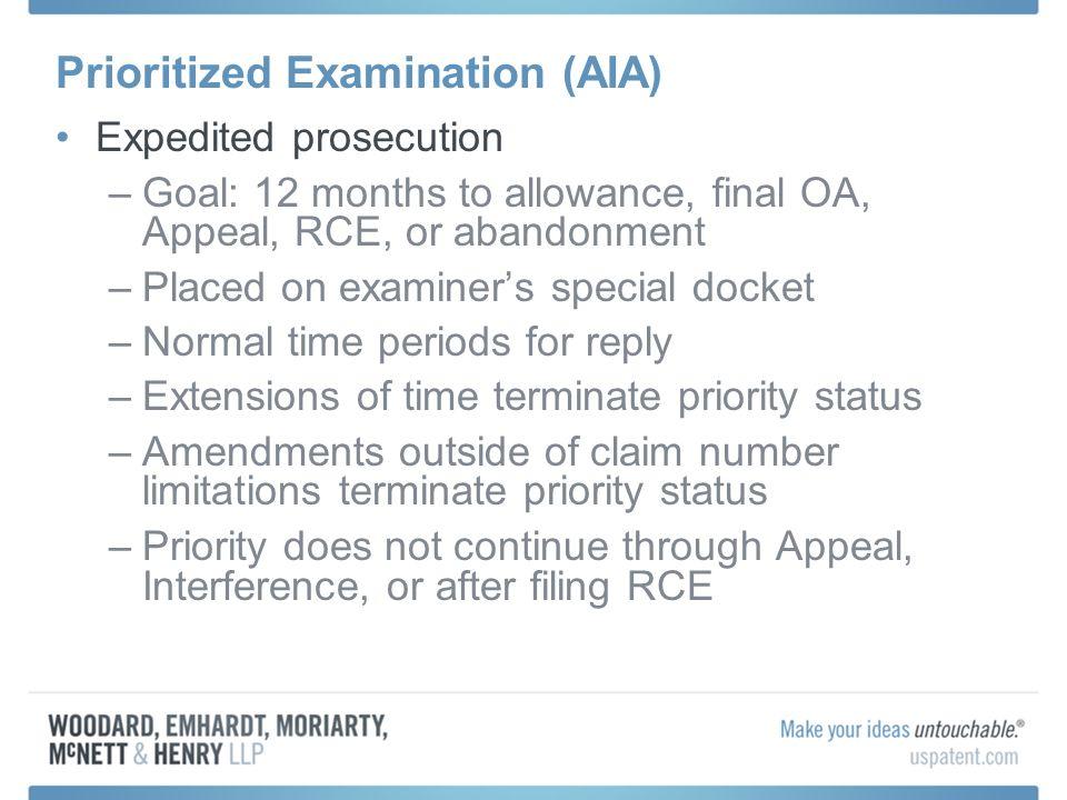 Prioritized Examination (AIA)