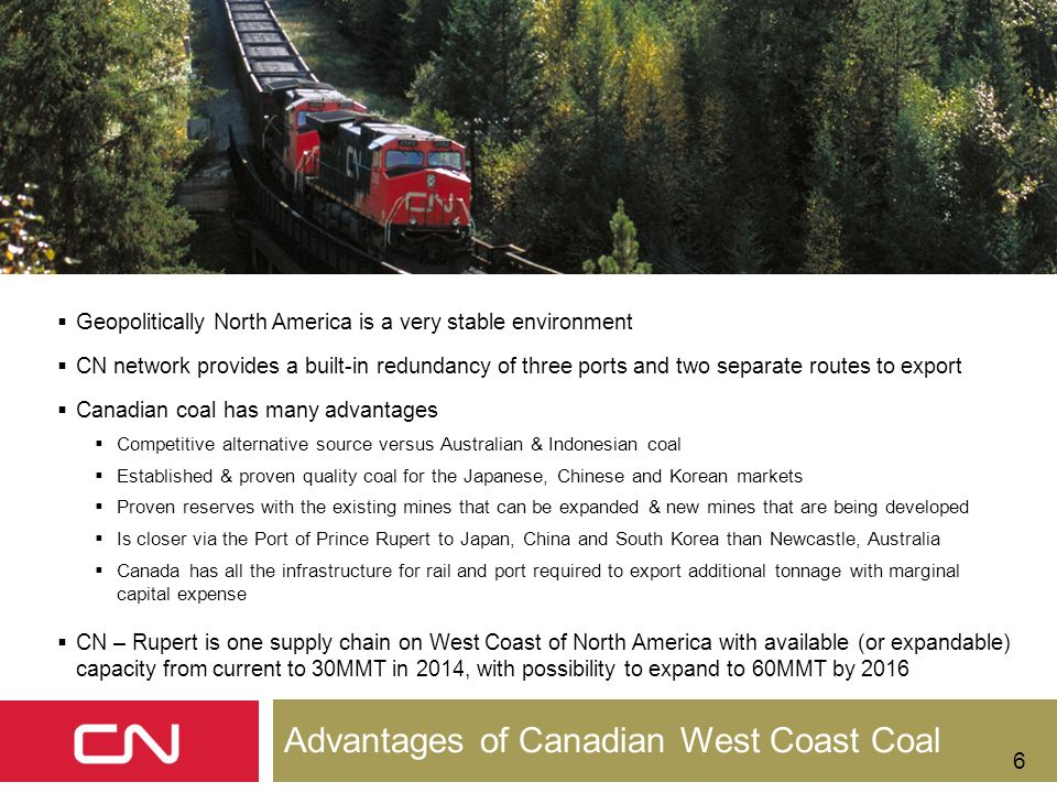 Advantages of Canadian West Coast Coal