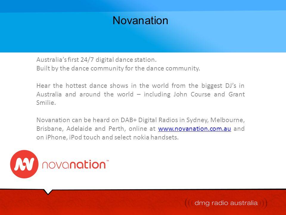 Novanation Australia's first 24/7 digital dance station.