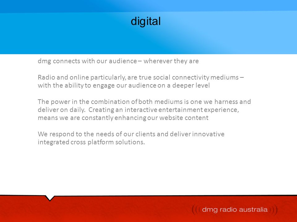 digital dmg connects with our audience – wherever they are
