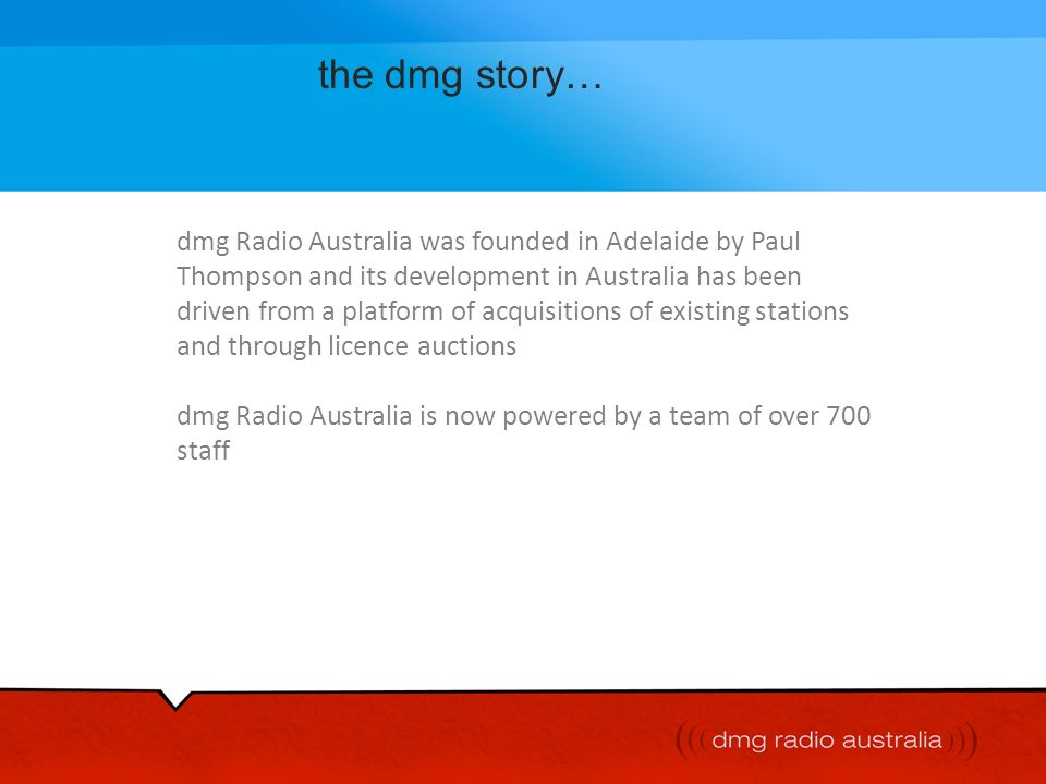 the dmg story…