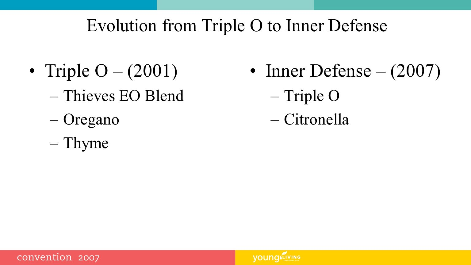 Evolution from Triple O to Inner Defense