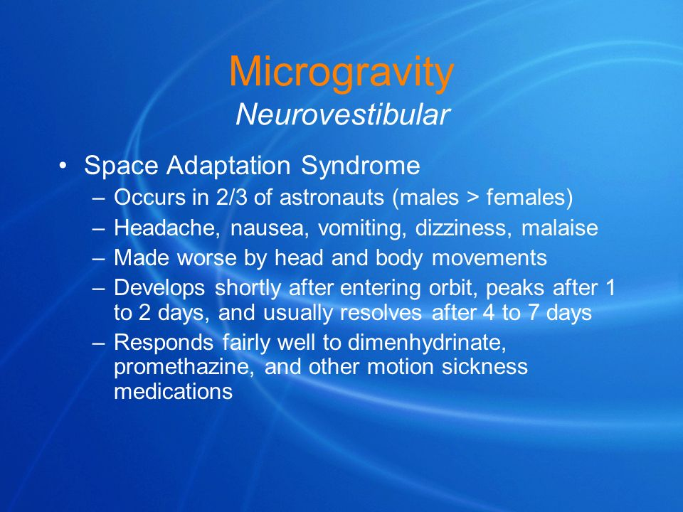 Microgravity Neurovestibular