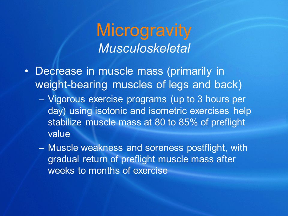 Microgravity Musculoskeletal