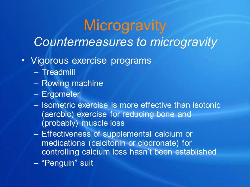 Microgravity Countermeasures to microgravity