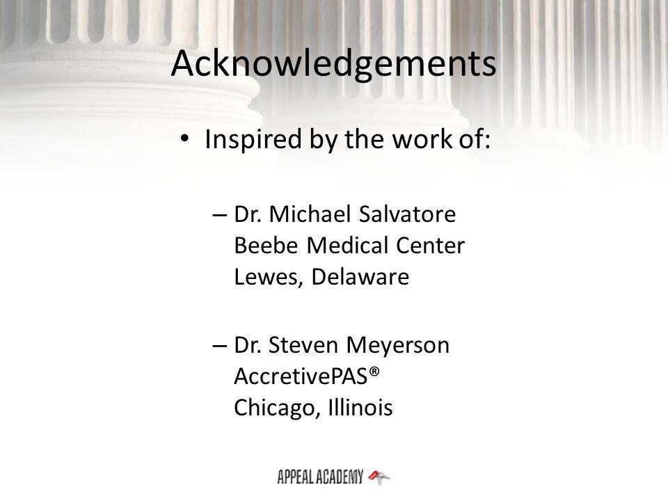 Acknowledgements Inspired by the work of: