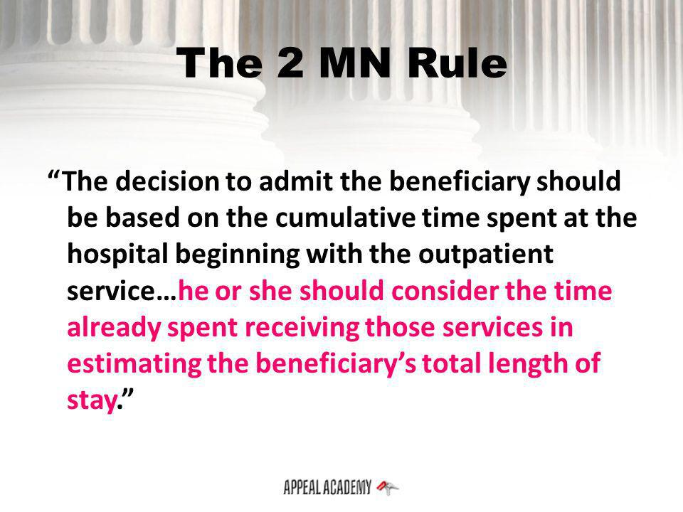 The 2 MN Rule