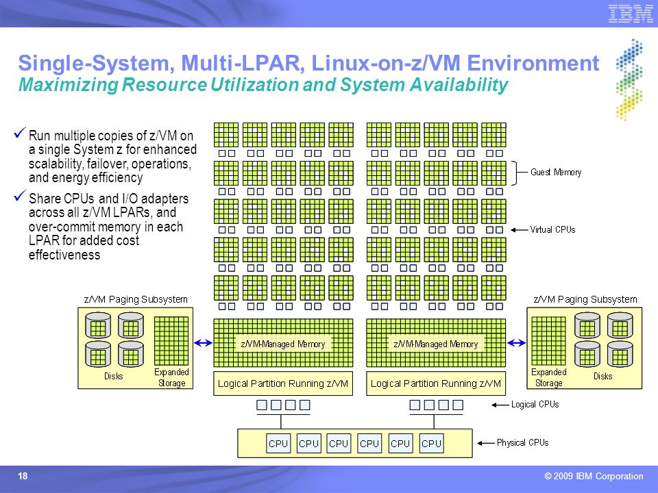 Single-System, Multi-LPAR, Linux-on-z/VM Environment Maximizing Resource Utilization and System Availability