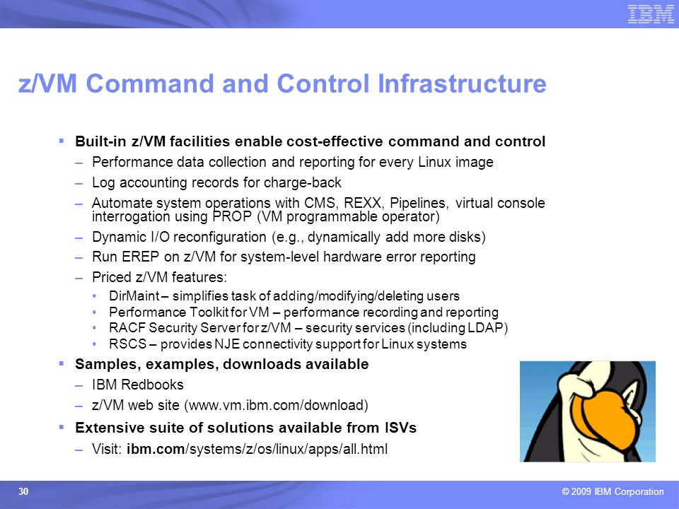 z/VM Command and Control Infrastructure