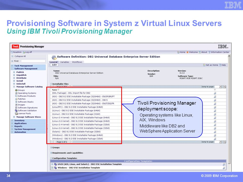 Provisioning Software in System z Virtual Linux Servers Using IBM Tivoli Provisioning Manager