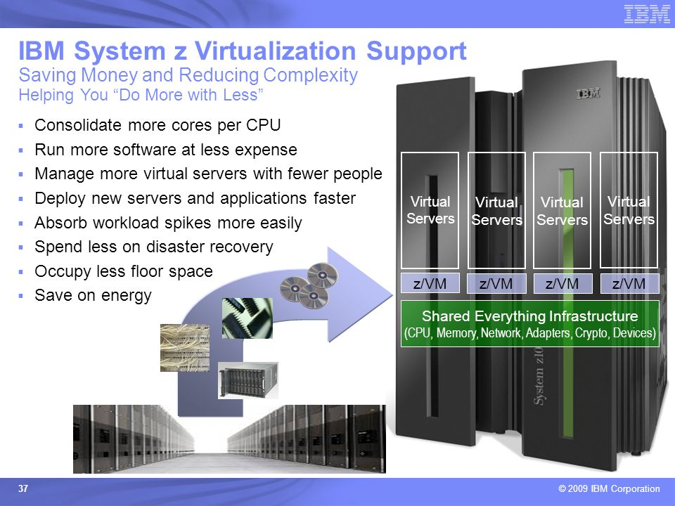 IBM System z Virtualization Support Saving Money and Reducing Complexity Helping You Do More with Less