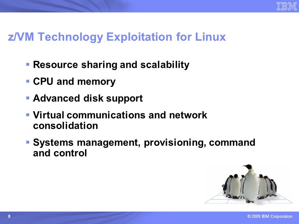 z/VM Technology Exploitation for Linux