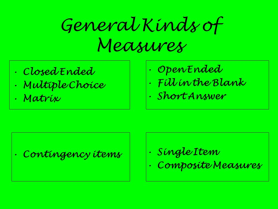 General Kinds of Measures